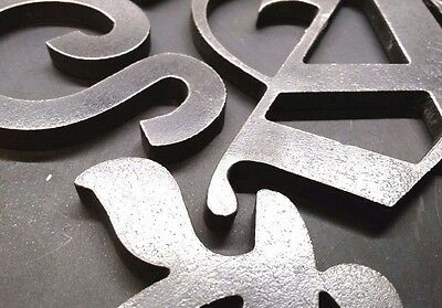 "Steel Letters, Numbers, & Symbols |2"" x 1/4""
