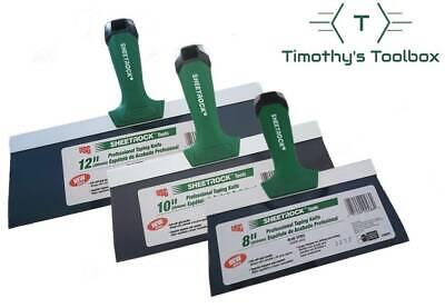 Usg Sheetrock Pro Drywall Taping Knife Set 8-10-12 Blue Steel Matrix Style Grip