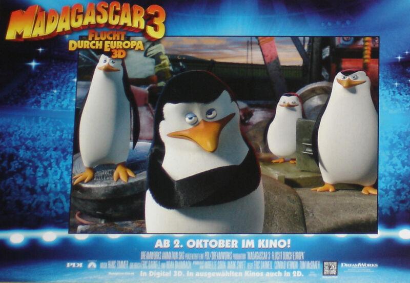 MADAGASCAR 3 - Lobby Cards Set - Dreamworks - ANIMATION