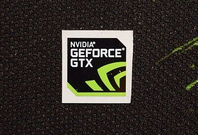 New Nvidia GeForce GTX Sticker 17.5 x 17.5mm Genuine Case Badge USA Seller!