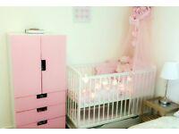Beautiful baby cot and wardrobe