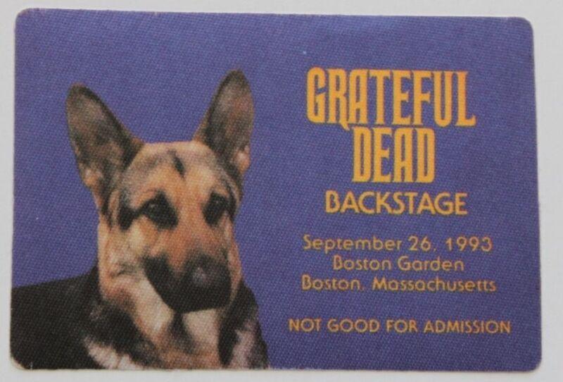 Grateful Dead Backstage Pass 9-26-1993 Boston Garden dog