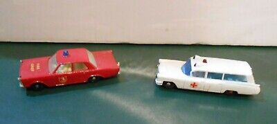 Vintage Lesney Matchbox Series Fire Chief Ambulance Diecast Cars