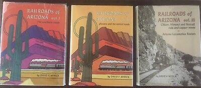 SET: Railroads of Arizona, Myrick  VOLS 1-3: 0831071117, 0831071184, 087046065X