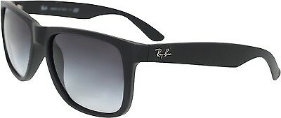 Ray-Ban Men's Justin RB4165-601/8G-55 Black Wayfarer Sunglasses
