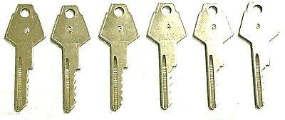 Chrysler, Dodge, Plymouth Y152 Space & Depth Keys 5 Cut keys HPC C10 Code Card