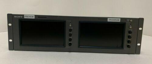 Sony LMD-7220W Dual 7-Inch LCD Monitors in Rack Mount Housing W/Widescreen