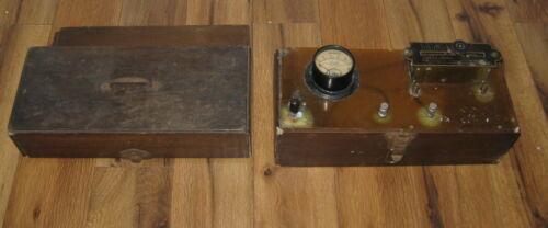 Antique 1800s Wood Wappler Electric Thigh Galvanic Rheostat Medical Quackery VTG