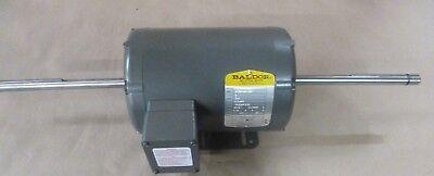 Baldor 2hp 3phase 208v 58 X 9 Double Shaft Grinder Buffer Motor 1725 Rpm