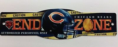 Chicago Bears Nfl End (NFL Chicago Bears End Zone Sign,)