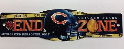 NFL Chicago Bears End Zone Sign, NEW Chicago Bears Nfl End