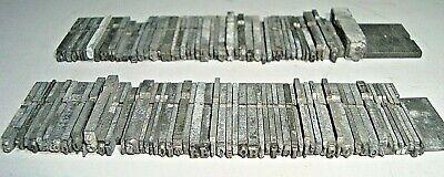 100 Vintage Greek Alphabet Letters Metal Letterpress Printing Type Blocks 1