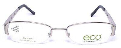 ECO Earth Conscious Optics 1043 Eyeglass/Glasses Frames 53-18-135 Silver (Eco Glasses Frames)