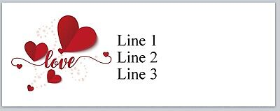 Personalized Address Labels Red Hearts Love Buy 3 Get 1 Free Jx 378
