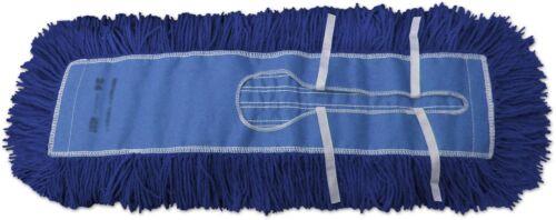 """Dust Mops: 60"""" Blue Closed Loop Industrial Style - 6 Pack"""