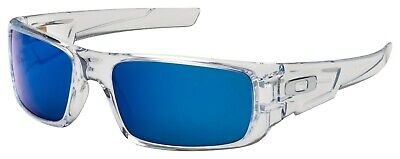 Oakley Crankshaft Sunglasses OO9239-04 Polished Clear | Ice Iridium Lens | (Oakley Iridium Sunglasses)