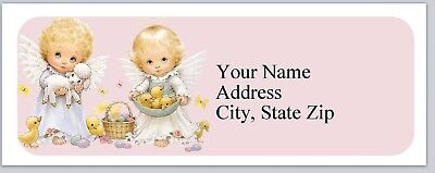 30 Personalized Address Labels Baby Angels Easter Buy 3 Get 1 free (P 281)