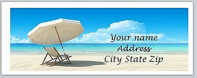 30 Personalized Return Address Labels Beach Buy 3 Get 1 Free C 855