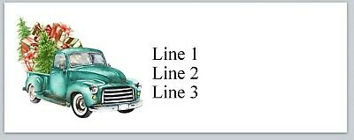 Personalized Address Labels Vintage Truck Christmas Buy 3 Get 1 Free Jx 174