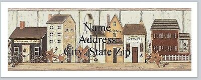 30 Personalized Address Labels Primitive Country Houses Buy 3 Get 1 Free P 343