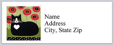 Personalized Address Labels Cute Abstract Cat Buy 3 Get 1 Free P 625