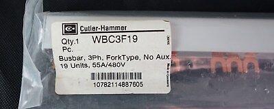 Cutler Hammer Wbc3f19 3-phase Fork Type 19 Unit Breaker Panel Box Bus Bar