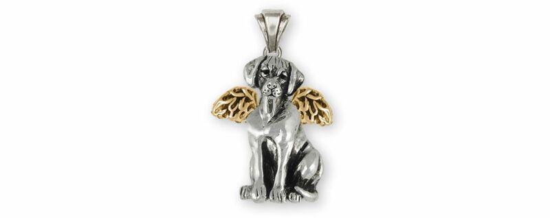 Rhodesian Ridgeback Angel Jewelry Silver And 14k Gold Handmade Rhodesian Ridgeba