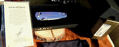 Benchmade 485-171 Valet Gold Class Anodized Titanium Damasteel AXIS Lock Knife