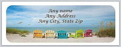 30 Personalized Return Address Labels Beach Buy 3 Get 1 free(c 679)