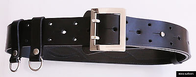 Police Officer Natural (NATO MILITARY ARMY OFFICER POLICE BELT NATURAL POLISH LEATHER HOLSTER BULLHIDE )