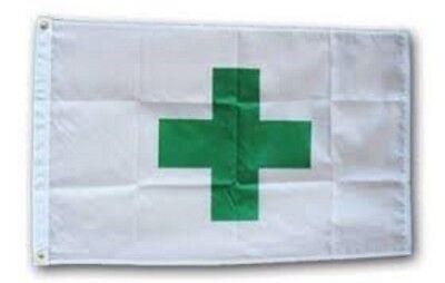 MARIJUANA PLAIN LEAF FLAG BANNER 5x3/' DOPE MARIJANE POT NEW