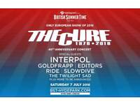 The Cure 7th July Hyde Park tickets