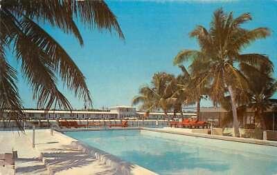 Big Pine Key Florida pool Vista Linda Motel & Marina vintage pc (Linda Pool)
