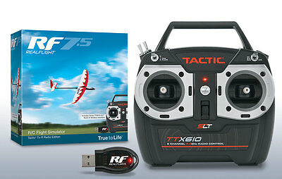 REALFLIGHT 7.5 RC QUADCOPTER FLIGHT SIMULATOR W/ TACTIC TTX610 MD 2 GPMZ4526