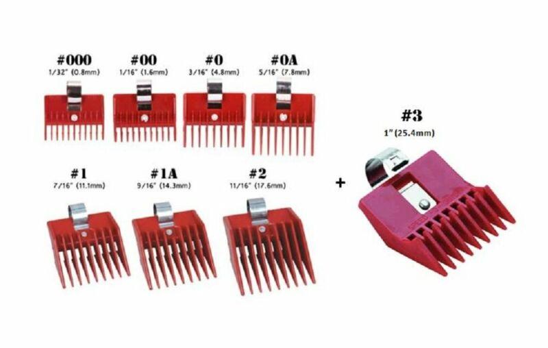 8Pc Speed O Guide Universal Clipper Comb Attachments 8 Diff