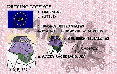 LITTLE GRUESOME / WACKY RACES NOVELTY (NEW)