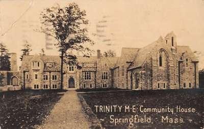 Springfield Massachusetts Trinity Me Community House Real Photo Postcard K78431
