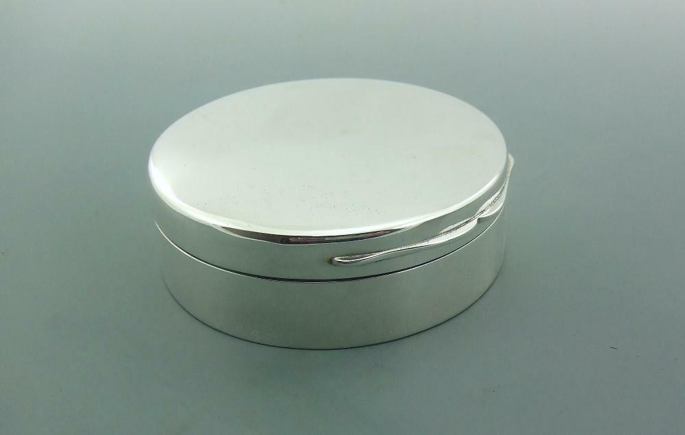 ANTIQUE EDWARDIAN PLAIN SOLID STERLING SILVER JEWELLERY BOX