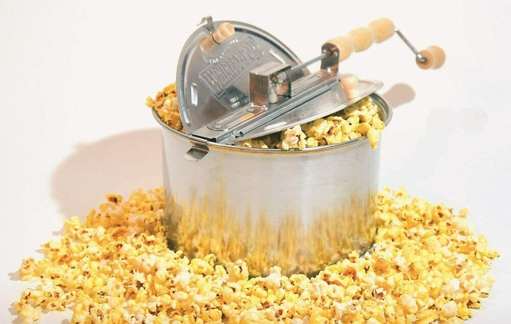 Whirley Pop Stovetop Metal Gear Popcorn Popper Wabash Valley