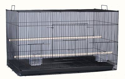 "24"" NEW Aviary Bird Breeder Breeding Cage 24x16x16H BLK - 360"