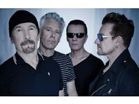 2 x U2 Tickets Floor Standing Manchester Arena 19th October 2018