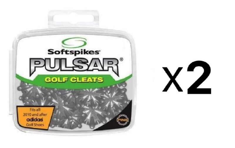 Softspikes Pulsar PINS Golf Cleat Kit - Performance Insert System (2-Pack)