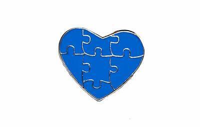Autism Awareness Heart Puzzle Pieces Lapel Hat Pins Raise Awareness Single 7304](Blue Puzzle Piece Lapel Pin)