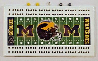 Michigan Board (NCAA Michigan Wolverines Cribbage Board, NEW)