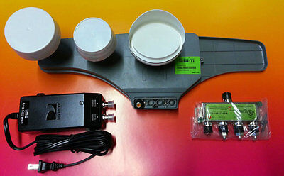 Directv Green Swim Kit Sl5 Lnb 21v Power 1x4 Splitter Satellite Lnbf 5 Hd Swm