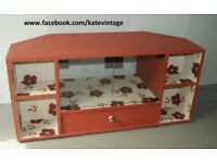 Hand-decorated, decoupage tv stand