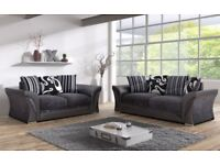 SHANNON SUITE - FABRIC - NEW - ALSO AS CORNER - DELIVERY AVAILABLE