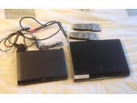 SKY PLUS HD BOX BUNDLE. 1 x 500GB BOX, DIGIBOX, CONNECTOR & 2 x REMOTES. VGC.