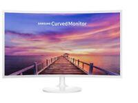 "Samsung C32F391 32"" Curved LED Monitor - HDMI, Displayport, White Gloss"