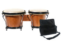"""BONGO SET. Rockjam 7"""" and 8"""" with Padded Bag. Perfect, as NEW!"""
